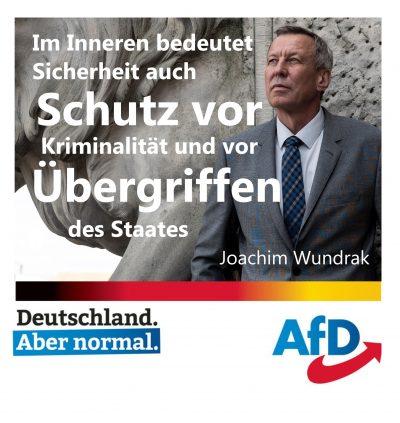 J. Wundrak  Generalleutnant a.D. der Luftwaffe (Spitzenkandidat Niersachsen)